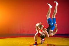 Dois lutadores dos homens novos Fotos de Stock Royalty Free
