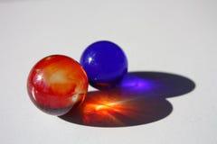 Dois mármores Imagem de Stock