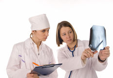Dois médicos imagem de stock