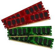Dois módulos ajustados de DDRII Foto de Stock