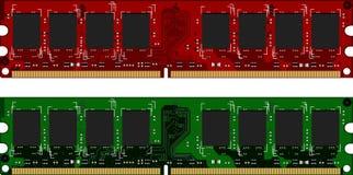 Dois módulos de DDRII Fotos de Stock