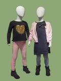 Dois manequins no desgaste das crianças Imagens de Stock Royalty Free