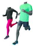 Dois manequins running Imagem de Stock