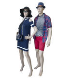 Dois manequins vestidos na roupa do verão Imagens de Stock