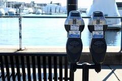 Dois medidores de estacionamento fotografia de stock