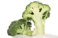 Dois meios brocolis Fotografia de Stock Royalty Free