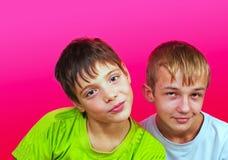 Dois meninos Imagens de Stock