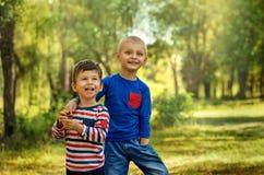 Dois meninos do amigo Fotografia de Stock