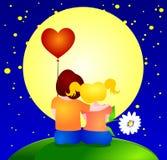 Dois meninos no amor e no abraço ilustração royalty free