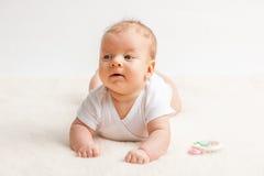 Dois meses de bebê idoso Foto de Stock Royalty Free