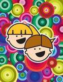 Dois miúdos felizes pequenos Fotos de Stock