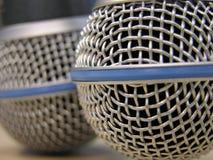 Dois microfones Imagens de Stock