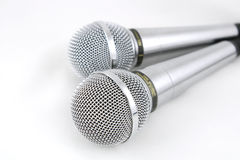 Dois microfones Fotografia de Stock