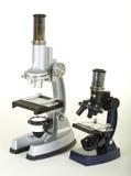 Dois microscópios do laboratório fotos de stock royalty free