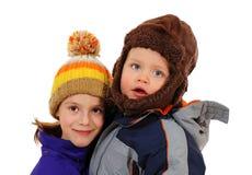 Dois miúdos adoráveis Fotos de Stock