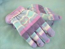 Dois mittens Fotos de Stock Royalty Free