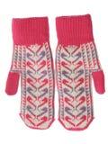 Dois mittens de lãs Foto de Stock