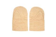 Dois mittens de trabalho Foto de Stock Royalty Free