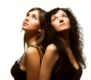 Dois modelos bonitos Imagens de Stock Royalty Free