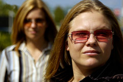 Dois modelos louros Imagens de Stock Royalty Free