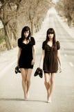 Dois modelos novos Fotografia de Stock