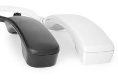 Dois monofones de telefone Imagens de Stock