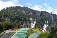 Dois montes desalto em Oberstdorf imagens de stock
