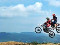 Dois motociclistas. Fotografia de Stock Royalty Free