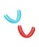Dois mouthguards Imagem de Stock