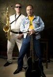 Dois músicos Imagens de Stock