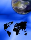 Dois mundos foto de stock royalty free