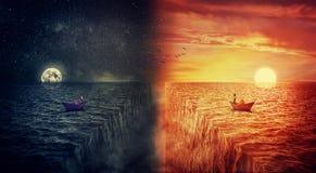Dois mundos colidem Imagens de Stock