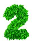 Dois Número feito a mão 2 das sucatas do gree de papel Imagem de Stock