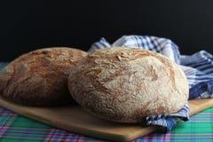 Dois nacos do pão de mistura do centeio Fotografia de Stock Royalty Free