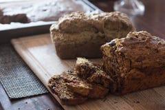 Dois nacos do pão feito home do abobrinha Imagens de Stock Royalty Free