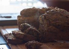 Dois nacos do pão feito home do abobrinha Foto de Stock Royalty Free