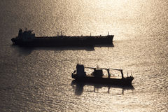 Dois navios de recipiente Foto de Stock Royalty Free