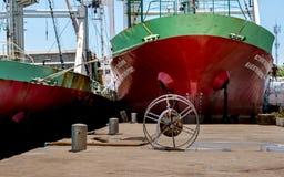 Dois navios de Trasport Imagem de Stock