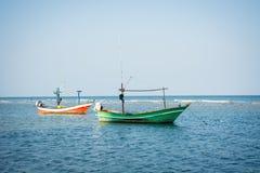 Dois navios no mar Fotografia de Stock Royalty Free
