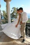 Dois no dia do casamento. imagens de stock royalty free