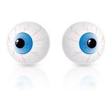 Dois olhos Foto de Stock Royalty Free