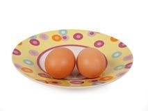 Dois ovos fotografia de stock