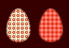 Dois ovos da páscoa Imagens de Stock