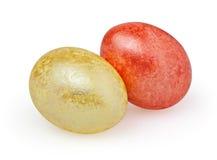 Dois ovos da páscoa no branco Imagens de Stock Royalty Free