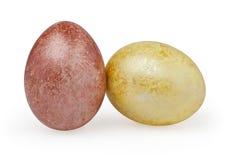 Dois ovos da páscoa no branco Imagem de Stock Royalty Free