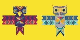 Dois pássaros gráficos Foto de Stock Royalty Free