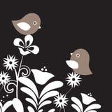 Dois pássaros no amor ilustração stock
