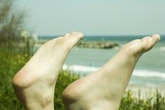Dois pés fotos de stock
