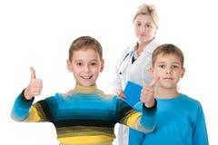 Dois pacientes pequenos Imagens de Stock Royalty Free