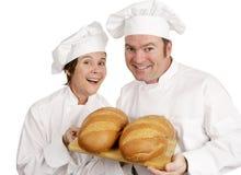Dois padeiros felizes Foto de Stock Royalty Free